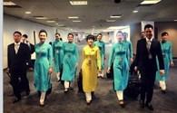 Hoa hậu Ngọc Hân khen hết lời đồng phục mới của Vietnam Airlines