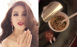 Phạm Hương ăn mì gói để thi Hoa hậu Hoàn vũ