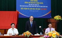 Đồng chí Nguyễn Thiện Nhân thăm và làm việc với Báo Lao Động
