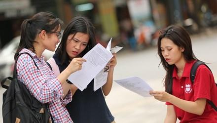 Nhiều đại học công bố điểm chuẩn xét tuyển 2017