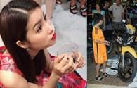 Hoa hậu Phạm Hương tá hỏa vì cửa hàng bị đối tượng lạ tạt sơn đen