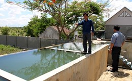 """Ninh Thuận: Hàng trăm hộ dân """"khổ"""" vì nước sinh hoạt cặn vàng như riêu cua"""
