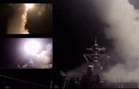 Clip: Khoảnh khắc tên lửa Tomahawk được phóng từ tàu chiến ở Địa Trung Hải nhắm tới Syria