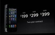 Chi phí sản xuất iPhone 5 khoảng 167,5USD