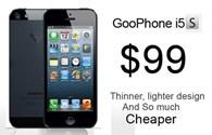 GooPhone i5S nhái iPhone 5S giá 2 triệu đồng