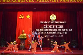 LĐLĐ Quảng Ninh: Míttinh chào mừng thành công Đại hội XI Công đoàn Việt Nam