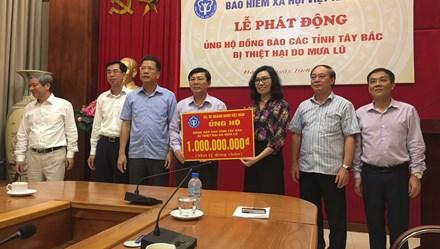 Bảo hiểm xã hội Việt Nam phát động ủng hộ đồng bào bị thiên tai