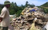 Nóng: Phát hiện thêm rác thải nghi của Formosa đổ trong rừng