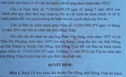 """Viết tiếp vụ """"Đồng Tháp: Tuyến dân cư... 6 sai"""": Tòa án ra Quyết định """"nhắc"""" UBND huyện thi hành án"""