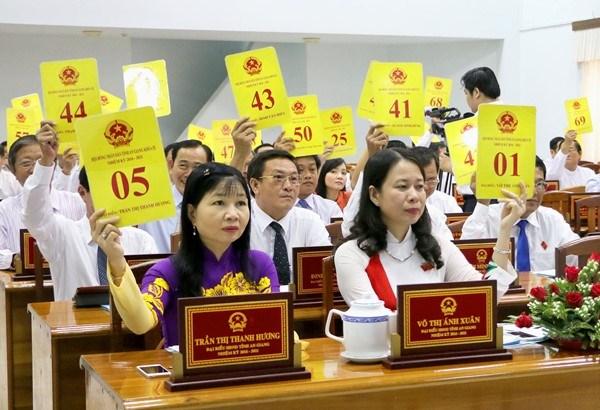 Các đại biểu tham dự kỳ họp HĐND tỉnh An Giang. Ảnh: T.S