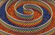 Ngoạn mục cảnh 15.000 miếng domino đổ dây chuyền gây sốt trên mạng