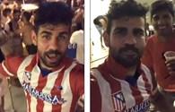 """Diego Costa trêu ngươi thầy cũ Conte bằng """"cái ôm... xã giao"""""""
