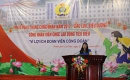 LĐLĐ TP. Lai Châu phát động Tháng Công nhân 2017