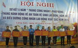 LĐLĐ tỉnh Lạng Sơn: Phát động Tháng công nhân năm 2017