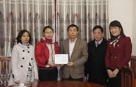 Quỹ TLV Lao Động trao 5 triệu đồng hỗ trợ lao động Tuyên Quang bị hỏa hoạn