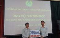 CNVCLĐ thành phố Hải Phòng ủng hộ 500 triệu đồng xây dựng Khu tưởng niệm chiến sĩ Gạc Ma