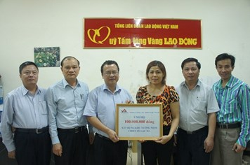 CBCNV Tổng Công ty Thép Việt Nam ủng hộ 100 triệu đồng xây dựng Khu tưởng niệm chiến sỹ Gạc Ma