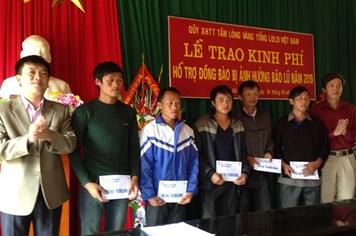 Quỹ Tấm lòng vàng hỗ trợ đồng bào tỉnh Yên Bái bị thiệt hại do bão lũ