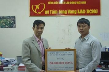 Cộng đồng Việt Nam tại Hàn Quốc ủng hộ 150 triệu đồng xây nhà bán trú tại Bắc Cạn