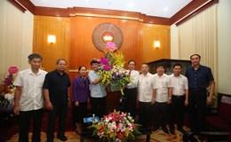 Tổng LĐLĐVN chúc mừng tân Chủ tịch Uỷ ban Trung ương Mặt trận Tổ quốc Việt Nam
