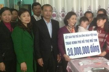 Thái Bình: Thêm một cháu nhỏ được hỗ trợ phẫu thuật tim