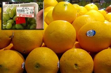 Không có chuyện dán cờ nước sản xuất trên hoa quả
