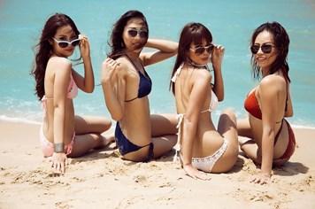 """3 người đẹp Việt chinh chiến đấu trường sắc đẹp quốc tế """"đốt cháy"""" bãi biển với bikini"""