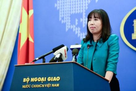 Người phát ngôn Bộ Ngoại giao Việt Nam Lê Thị Thu Hằng. Ảnh: T.L