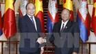 Thủ tướng Nguyễn Xuân Phúc tiếp Chủ tịch Quốc hội Campuchia