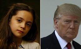 """Bé gái Syria """"quyền lực"""" ngang Tổng thống Donald Trump"""