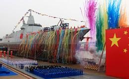"""Trung Quốc hạ thủy tàu khu trục """"made in China"""" nặng 10 nghìn tấn"""