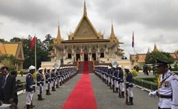 Lễ đón chính thức Tổng Bí thư Nguyễn Phú Trọng tại Hoàng cung Campuchia