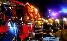 Hiện trường thảm khốc vụ xe khách đâm vào đường hầm ở Trung Quốc