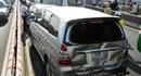 Tai nạn liên tiếp trên cầu Sài Gòn, 12 ôtô biến dạng