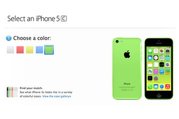 Apple thông báo giá đặt mua iPhone 5C