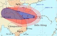 Tâm bão số 10 hướng thẳng vào Quảng Bình – Quảng Trị