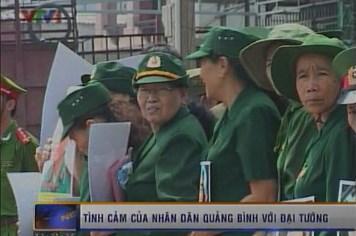 Tình cảm của nhân dân Quảng Bình với Đại tướng