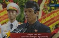 Lễ truy điệu Đại tướng Võ Nguyên Giáp: Đại diện gia đình phát biểu
