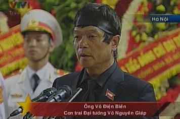 Video lễ truy điệu Đại tướng Võ Nguyên Giáp: Đại diện gia đình phát biểu