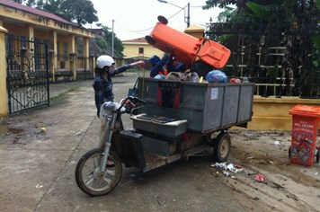 Cty TNHH Huy Hoàng (Lạng Sơn): Cải thiện điều kiện làm việc cho công nhân môi trường