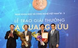 Trao Giải thưởng Tạ Quang Bửu năm 2017 cho hai nhà khoa học cơ bản