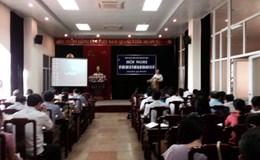 CĐ Viên chức tỉnh Ninh Bình: Tập huấn công tác tổ chức Đại hội CĐ các cấp cho 85 cán bộ CĐ