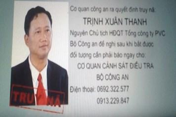Bộ Công an thông báo: Trịnh Xuân Thanh đã ra đầu thú
