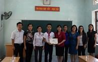 Qũy Tấm Lòng Vàng Lao Động trao học bổng cho học sinh nghèo vượt khó huyện An Dương