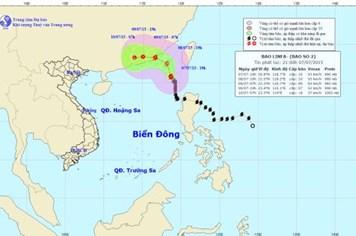 Cập nhật tin bão số 2 ngày 8.7: Bão mạnh lên gây mưa lớn trên diện rộng ở Nam Bộ