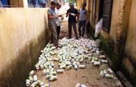 Vụ chôn thuốc trừ sâu: Dân đội mưa gác... hiện trường