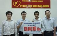LĐLĐ tỉnh Thái Nguyên ủng hộ ngư dân Hoàng Sa, Trường Sa 100 triệu đồng