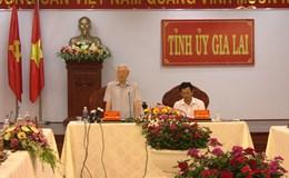 Tổng Bí thư Nguyễn Phú Trọng làm việc tại Gia Lai: Đề xuất nhiều giải pháp gỡ khó