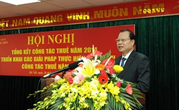 Phó Thủ tướng Vũ Văn Ninh: Phấn đấu năm 2015 có 100% số DN khai thuế điện tử