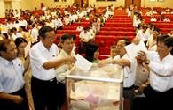 488 đại biểu Quốc hội đã bỏ phiếu tín nhiệm xong